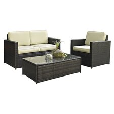 Palm Harbor 3 Piece Seating Group in Brown with Taupe Cushions