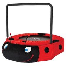 Kids' Ladybug 3' Trampolinein Black & Red