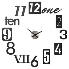 Numbra Wall Clock in Black