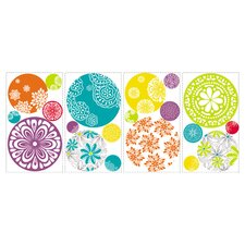 Roommates Deco 20 Piece Patterned Dots Wall Decal