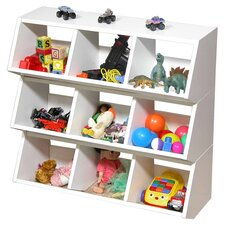 Dennis Stackable Compartment Cubby in White