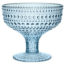iittala Kastehelmi Footed Bowl in Light Blue