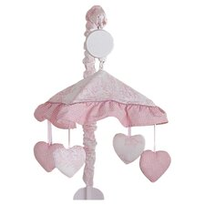 French Toile Musical Mobile in Pink