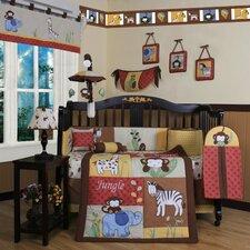 Boutique Amazon Jungle Animal 13 Piece Crib Bedding Set