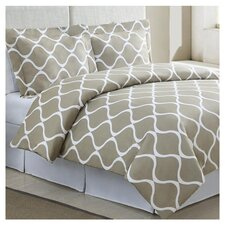 Banff Duvet Cover Set in Light Taupe