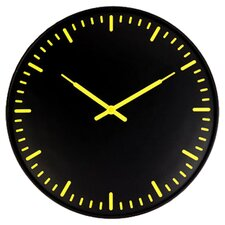 Kikkerland Swiss Station Clock in Black