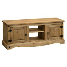 Corona TV Stand II in Distressed Pine