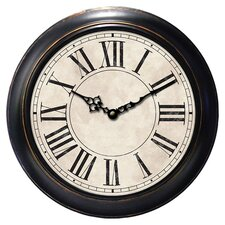 Classic Roman Numeral Clock in Black & Ivory