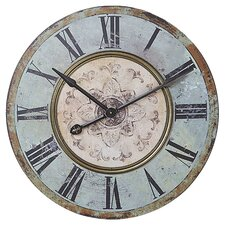 Oversized Clock in Distressed Blue