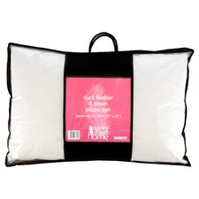Cambric Duck Feather & Down Pillow in White