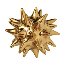 Urchin Shiny Sculpture in Gold