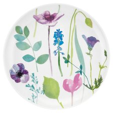 Water Garden Coupe Plate in White