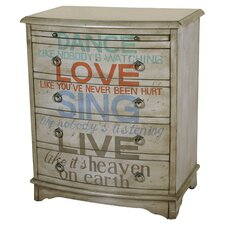 Accent 4 Drawer Chest in Grey