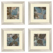 Botanical 4 Piece Framed Graphic Art Set