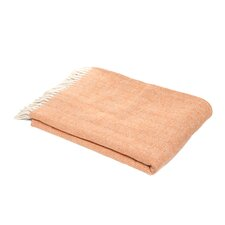 Celine Brushed Cotton Throw in Paprika