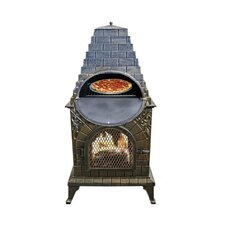 Aztec Pizza Oven Fireplace in Antique Bronze