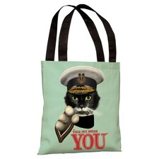 Pets Rock Tote Bag in Green