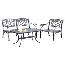 Sedona 3 Piece Lounge Seating Group in Charcoal Black
