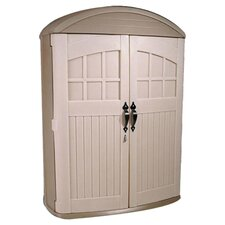 LifeScapes Highboy Plastic Kids Tool Shed in Tan