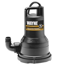 Submersible Non-Clogging Vortex Utility Pump in Black