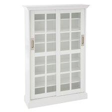 CD/DVD Media Cabinet in White