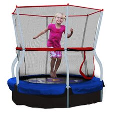 Seaside Adventure Bouncer 5' Trampoline & Enclosure in Blue & Red