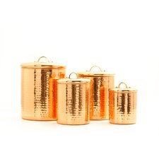 Lincoln 4 Piece Canister Set in Copper