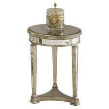 Borghese Mirrored End Table in Silver
