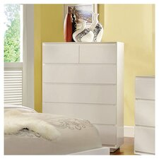 Pearl 6 Drawer Chest in White