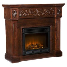 Curtis Electric Fireplace in Brown
