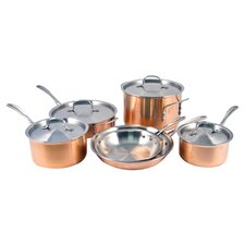 Calphalon Try-Ply 10 Piece Cookware Set in Copper