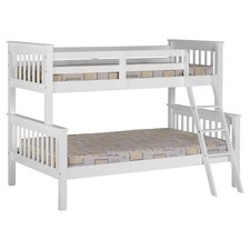 Neptune Triple Sleeper Convertible Bunk Bed in White