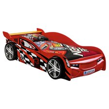 Scorpion Single Racer Bed Frame in Red