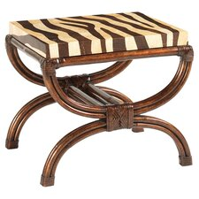 Royal Kahala Striped Delight Coffee Table in Cream & Brown Coco