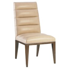 Parsons Leather Side Chair in Cashmere
