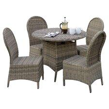 5-Piece Tasa Wicker Indoor/Outdoor Dining Set