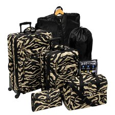 7-Piece Excursion Rolling Luggage Set in Zebra