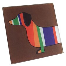 Dachshund Coaster in Brown