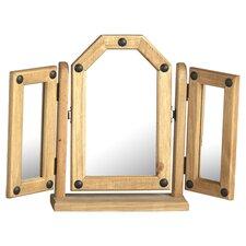 Corona Tri Fold Dressing Table Mirror in Pine