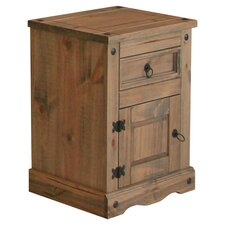 Corona 1 Drawer Bedside Table in Pine