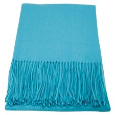 Luxor Cashmere Throw in Tiffany