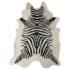 Zebra Cowhide Black & White 5' x 7' Rug