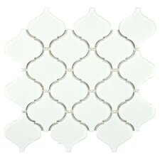 Retro Beacon Porcelain Mosaic Tile Sheet in White