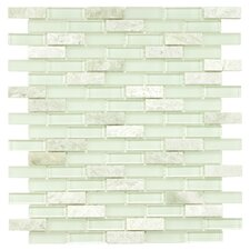 Sierra Glass & Stone Subway Mosaic Tile Sheet in Ming