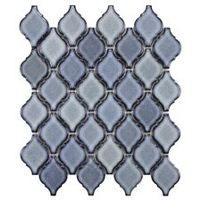 Arabesque Porcelain Mosaic Tile Sheet in Orion