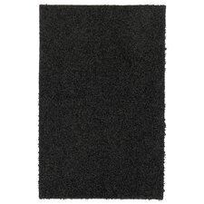 Super Texture Shag Black Rug