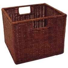 Wicker Storage Basket in Walnut