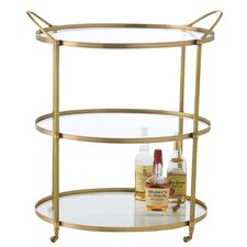 Connaught Serving Cart in Antique Brass