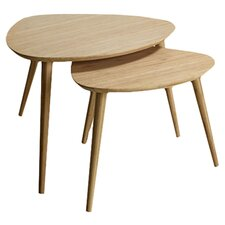 Noble 2 Pieces Nest of Tables in Natural