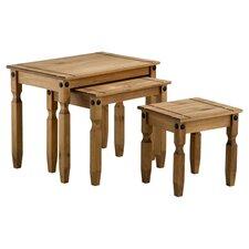 Corona 3 Piece Nest of Tables in Dark Pine